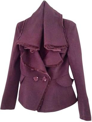 Christian Dior Purple Wool Coats