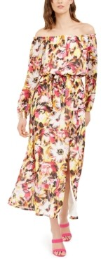 INC International Concepts Inc Off-The-Shoulder Floral-Print Maxi Dress, Created for Macy's