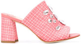 Polly Plume - jewelled mules - women - Leather/Paper Yarn - 36