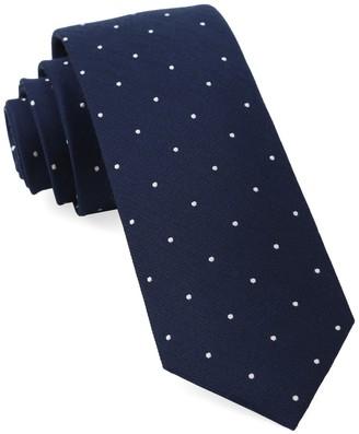 Tie Bar Dotted Report Navy Tie
