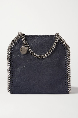 Stella McCartney The Falabella Tiny Faux Brushed-leather Shoulder Bag - Blue