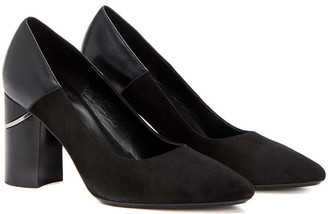Aquatalia Phaedra Weatherproof Suede & Leather Pump