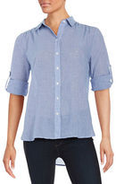 Lord & Taylor Gingham Button-Front Shirt