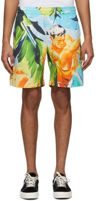 MSGM Multicolor Summer Print Shorts