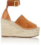 Chloé Women's Espadrille Wedge Sandals-TAN