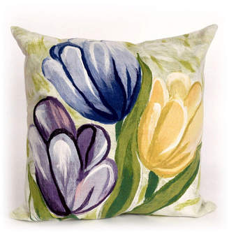"""Liora Manné Visions Iii Tulips Indoor, Outdoor Pillow - 20"""" Square"""