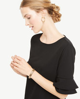 Ann Taylor Ruffle Sleeve Top