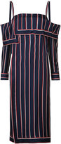 Monse - striped bardot tunic - women - Silk - 4