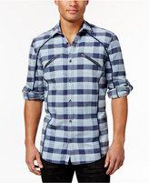 INC International Concepts Men's Plaid Zip-Pocket Shirt, Only at Macy's