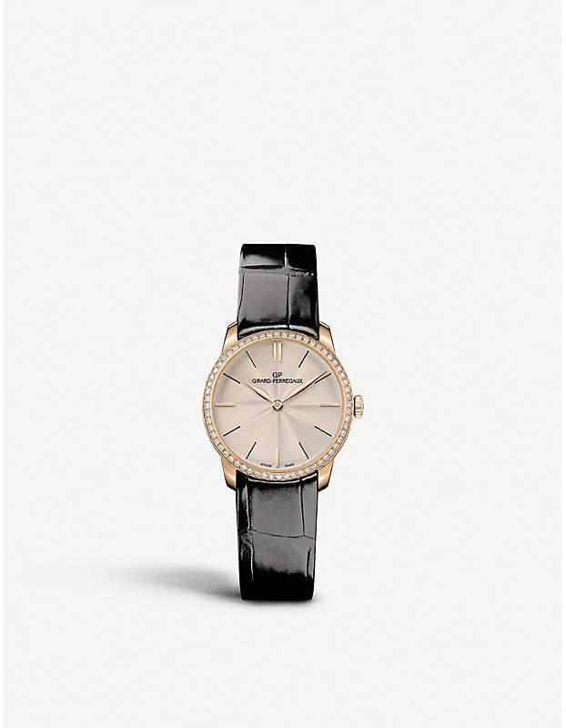 Girard Perregaux Girard-Perregaux 49528.52.131.CB6A 1966 Lady 18ct rose-gold and alligator-leather watch