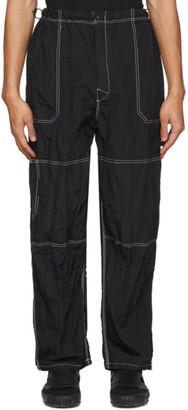 SASQUATCHfabrix. Black Nylon Trousers