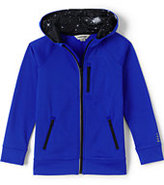 Classic Little Boys Full Zip Tricot Hoodie-Electric Blue