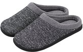 HomeTop Men's Comfort Breathable Moisture-wicking Spring Summer Slip On Memory Foam House Slippers Shoes Indoor / Outdoor
