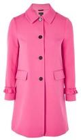 Topshop Frill Sleeve Coat
