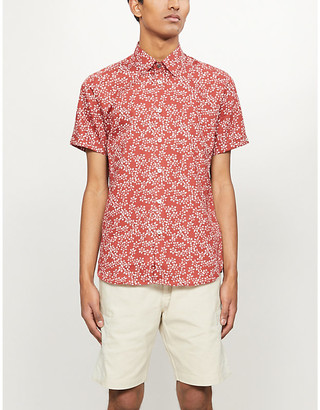 Ted Baker Yepyett floral-print slim-fit cotton shirt
