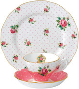 Royal Albert Cheeky Pink 3-pc. Cup and Saucer Set