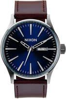 Nixon Men's Sentry Leather Strap Watch 42mm A105