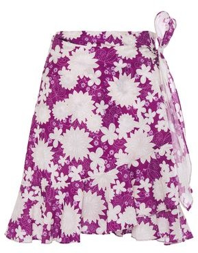 Miguelina Ruffle-trimmed Floral-print Cotton-mousseline Mini Wrap Skirt