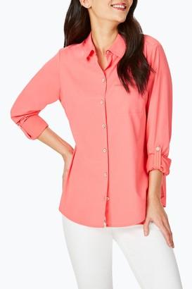 Foxcroft Reese UPF 50+ Roll Sleeve Shirt