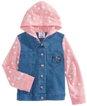Hello Kitty Toddler Girls Hooded Denim Jacket