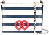 DSQUARED2 medium DD striped crossbody bag