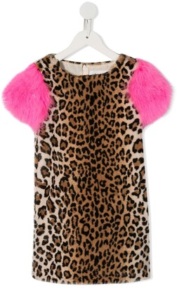 Charabia Fluffy Sleeve Party Dress