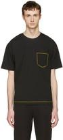 Wooyoungmi Black Contrast Pocket T-shirt