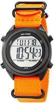 Jack Spade Men's WURU0168 Digital Display Watch with Orange Nylon Strap