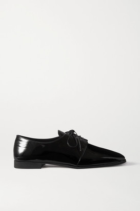 Prada 15 Patent-leather Brogues - Black