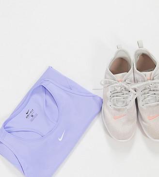 Nike Training Curve mesh tank in lilac