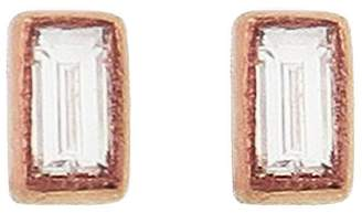 Couture Sethi Baguette Diamond Stud Earrings - Rose Gold
