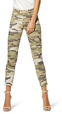 Ramy Brook Katie Camouflage Print Jeans in Sage Combo