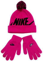 Nike Knitted Beanie and Mittens Set