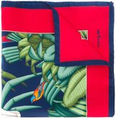 Kiton tropical print pocket square
