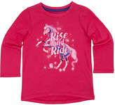 Carhartt Pink Peacock 'Rise and Ride' Hi-Low Tee - Toddler