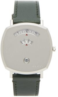 Gucci Grip Stainless-steel And Leather Watch - Mens - Silver