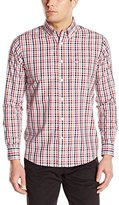Dockers Long Sleeve No Wrinkle Signature Plaid Men's Button Down Collar Shirt