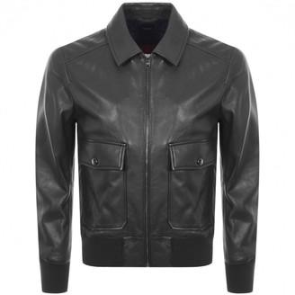 Boss Business BOSS HUGO BOSS Gonel Leather Jacket Navy