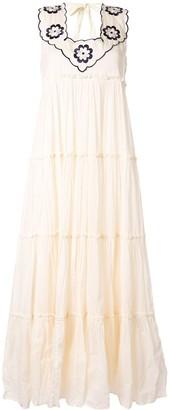 Innika Choo long embroidered dress