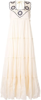 Innika Choo Long Embroidered Dress