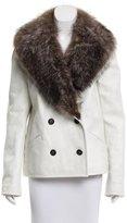 Proenza Schouler Fur-Trimmed Leather Jacket