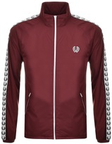 Fred Perry Taped Sports Jacket Burgundy