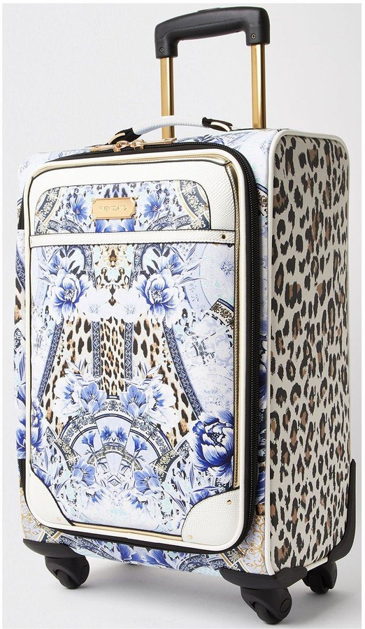 Thumbnail for your product : River Island Leopard Print Suitcase - Blue