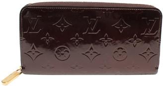 Louis Vuitton Purple Vernis Leather Zippy Long Wallet