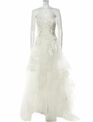 Marchesa Strapless Long Dress