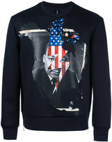 Neil Barrett Martin Luther King sweatshirt - men - Cotton/Polyurethane/Viscose - S