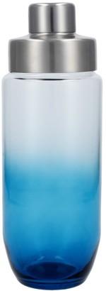 Scott Living Blue Ombre Glass Cocktail Shaker