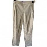 agnès b. Beige Cotton Trousers for Women