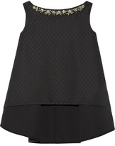 Erdem Joelle Crystal-embellished Jacquard Top - Black