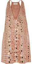 Zimmermann Lavish Mirror Sequined Satin Mini Dress